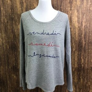 Anthropology T.la French Sweater sz Large